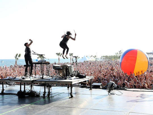 Indie rock duo Matt and Kim are known for spirited live performances.