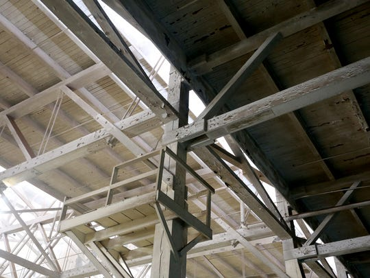 The Horse Stadium ceiling, built in 1919, at the Oregon State Fairgrounds on Thursday, Aug. 25, 2016.
