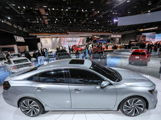 The Honda Insight Concept Car is on display during the 2018 North American International Auto Show held at Cobo Center in downtown Detroit on Tuesday, Jan. 16, 2018.