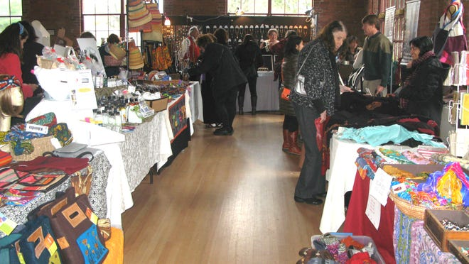 Shoppers at the annual Fair Trade event.