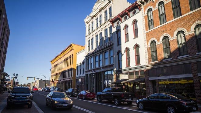 Walnut Street in downtown Muncie.