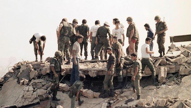 A Hezbollah bomber struck a U.S. Marine base outside Beirut on Oct. 23, 1983.