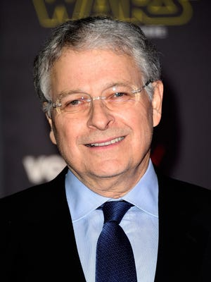 """Screenwriter Lawrence Kasdan attends the premiere of Walt Disney Pictures and Lucasfilm's """"Star Wars: The Force Awakens"""" at the Dolby Theatre on Dec. 14, 2015, in Hollywood, Calif."""
