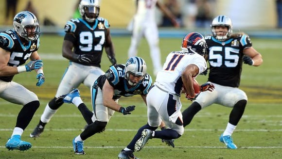 Broncos punt returner Jordan Norwood looks to elude