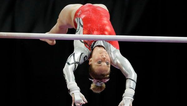 MyKayla Skinner of Gilbert is seventh all-around after the first round Friday at the P&G Women's Gymnastics Championships.