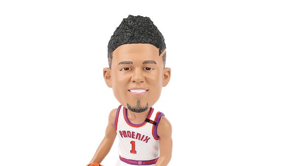 You can get a Devin Booker bobblehead at Friday's Suns vs. Pelicans game.