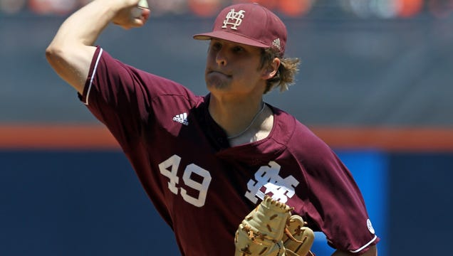 Kendall Graveman helped lead Mississippi State to the 2013 College World Series finals against UCLA.