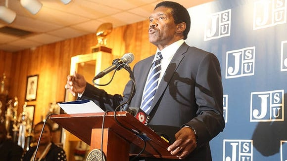 Harold Jackson was hired at his alma mater, Jackson State, to replace Rick Comegy.