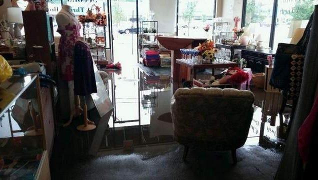 Local thrift shop floods
