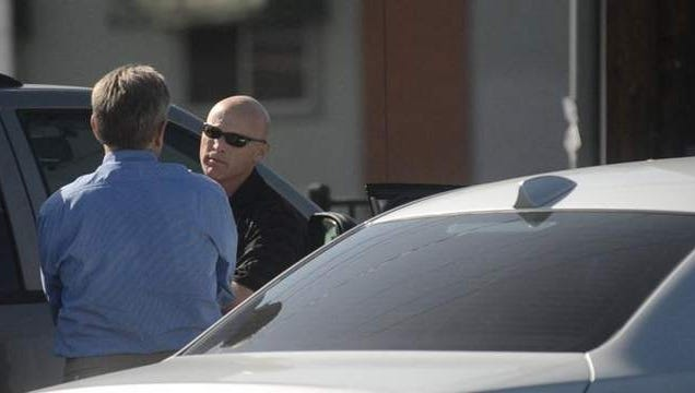 Reno Police Sgt. Ron Chalmers talks to a man cited for soliciting prostitution on Fourth Street in downtown Reno. The suspected johns must have a blood test and appear in court. Chalmers says the two questions most frequently asked are: Do they have to appear in court, and will the citation appear in the newspaper.