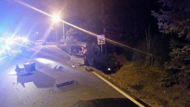 Rollover crash in southeast Salem.