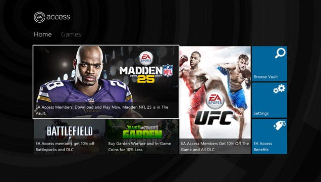 A screenshot featuring the EA Access subscription service.