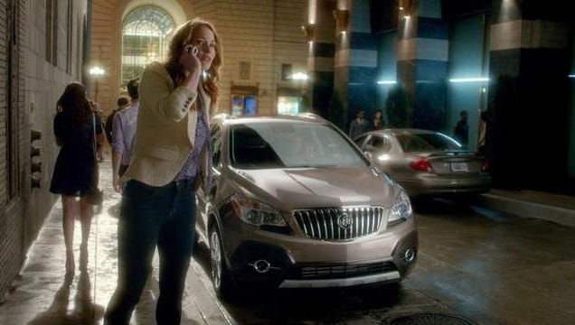 A still image from a new Buick ad for the Encore small crossover.