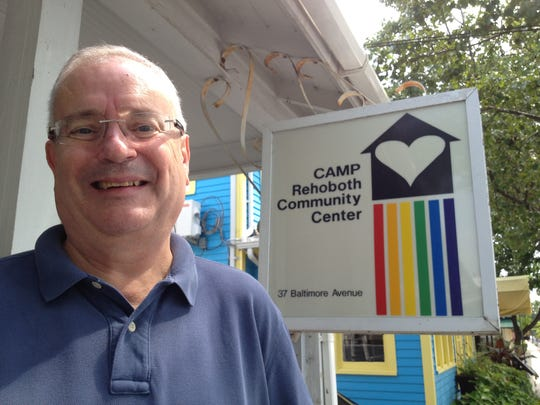 CAMP Rehoboth Executive Director Steve Elkin stands outside his office in Rehoboth Beach.
