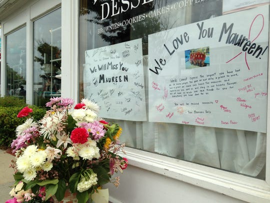 Maureen's Ice Cream owner, Maureen Pilot, passed away on Aug. 13 from breast cancer. Ice cream shop workers and locals left a memorial in front of her store later that weekend.