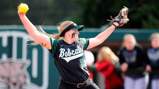 Danielle Stiene makes a pitch for Ohio University.