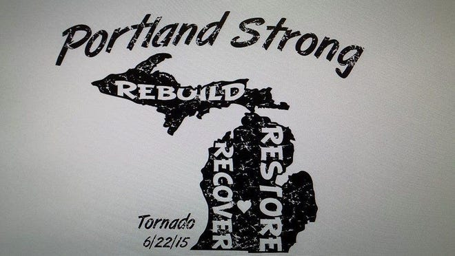 """Hometown Sports Inc., a Portland-based embroidery and screen printing shop, is taking orders now for its new """"Portland Strong"""" T-shirt. All proceeds from sales of the T-shirts will benefit local churches that were damaged by the tornado."""