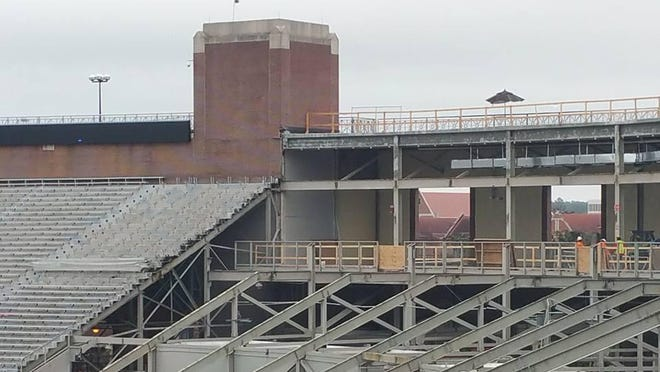 A view of the south end zone inside Doak Campbell Stadium.