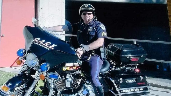 Millbury Police Sgt. Stephen Webb. The 28-year department veteran died June 8, 2020, at age 65 after a long illness.