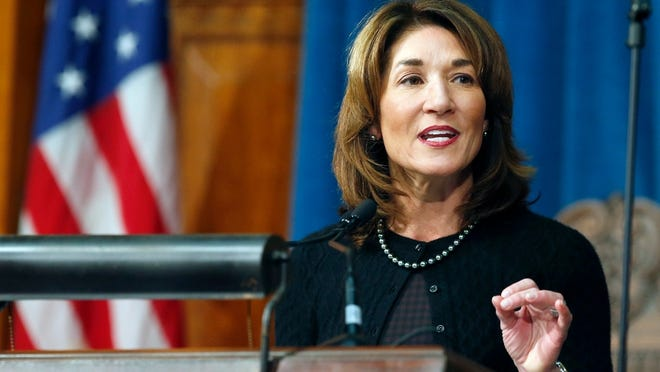 Lt. Gov. Karyn Polito on Thursday promoted a budget to be filed next week by Gov. Charlie Baker that will provide a 3.5 percent increase in the amount of local aid given to cities and towns from the state budget. [File photo]