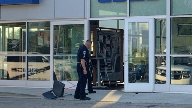 Police are investigating after the Elhart GMC dealership in Holland was broke into Monday, June 22, 2020.