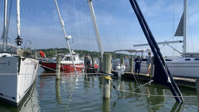 The Coast Guard is investigating why a boat sank in Park Township Saturday.