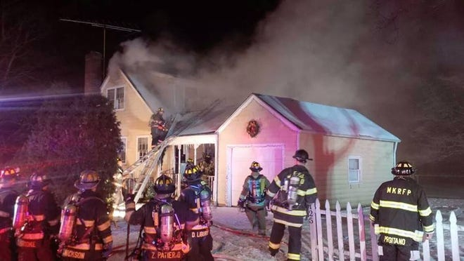 Firefighters put out a blaze early Saturday in a house on Spring Street in Mount Kisco. No one was hurt