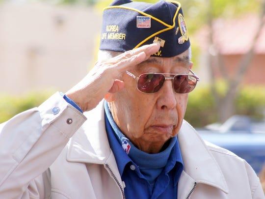 Korean War veteran Ruben Acosta is a fixture at Veterans Day ceremonies in Deming.