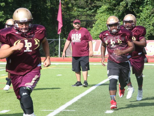 Iona Prep football practice