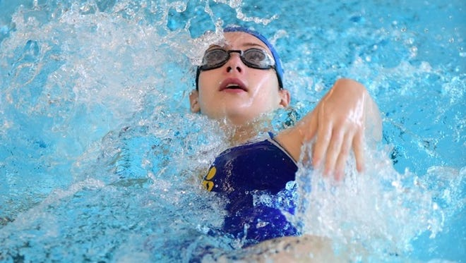 Redford Union's Mallory Chaffin is a back-stroke specialist for the Panthers.