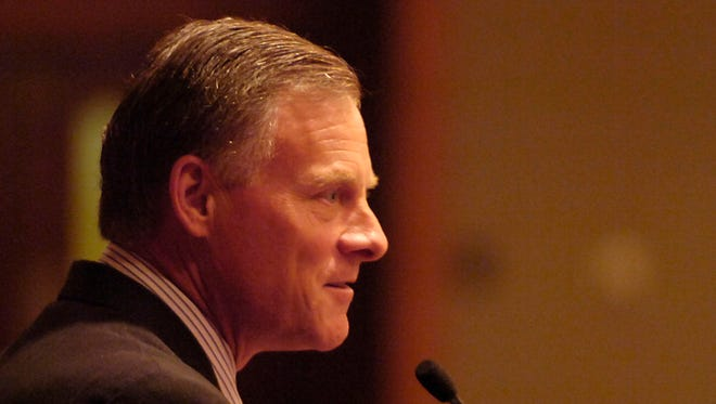 Sen. Richard Burr speaks to members of the NC Association of Resource Conservation and Development during a 2009 conference at the Grove Park Inn.