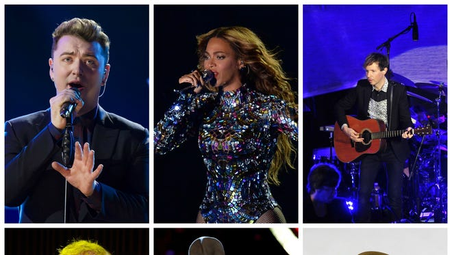 Beck, Beyoncé, Ed Sheeran, Sam Smith and Pharrell Williams are nominated for Album of the Year.