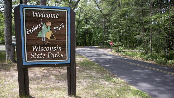 Near the Roche-a-Cri State Park entrance near Friendship, Wednesday, July 8, 2015.
