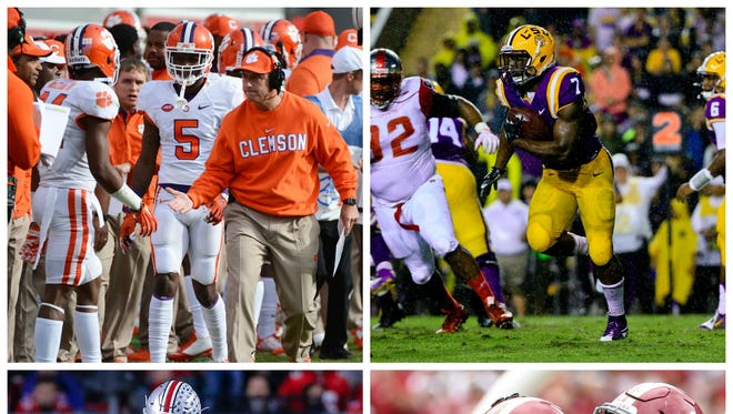 Clemson, LSU, Ohio State and Alabama are ranked in top four, in that order, of the initial CFP rankings.