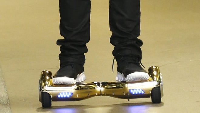 "Self-balancing scooters, commonly called ""hoverboards,"" have been banned from a growing list of public places, including York College of Pennsylvania as of Jan. 8."
