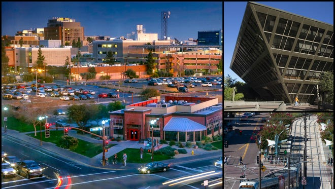 A collage of notable Tempe locations.