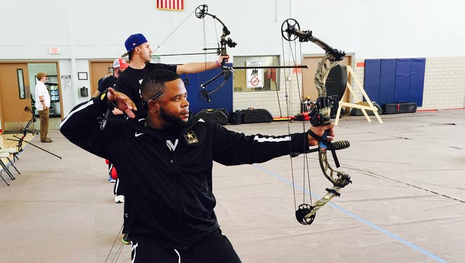 Retired Staff Sgt. Robert Green, representing Fort Sam Houston, is one of about 100 wounded, injured or ill soldiers and Army veterans competing at this week's Army Trials at Fort Bliss.