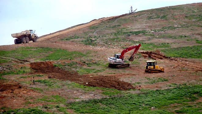 Work is done at the Middle Point Landfill, in Rutherford County, on Wednesday, March 30, 2016.