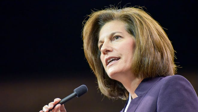 Nevada Democratic Senate candidate Catherine Cortez Masto and Republican candidate Rep. Joe Heck face off in a televised debate on Friday.