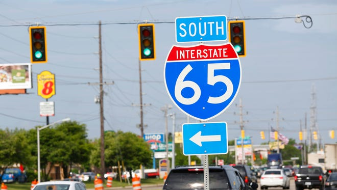 Hotels and restaurants along Ind. 26 a short distance from Interstate 65 Friday, May 27, 2016, in Lafayette.