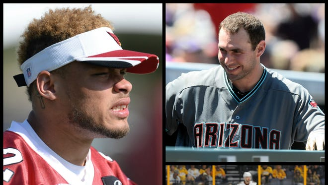 The contract situations of Tyrann Mathieu (left), Paul Goldschmidt (top right) and Shane Doan (bottom right) provide complicated futures for three Arizona teams.