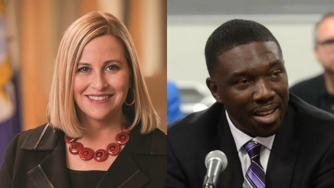 Mayor Megan Barry, left, and Metro Nashville Public Schools Director Shawn Joseph