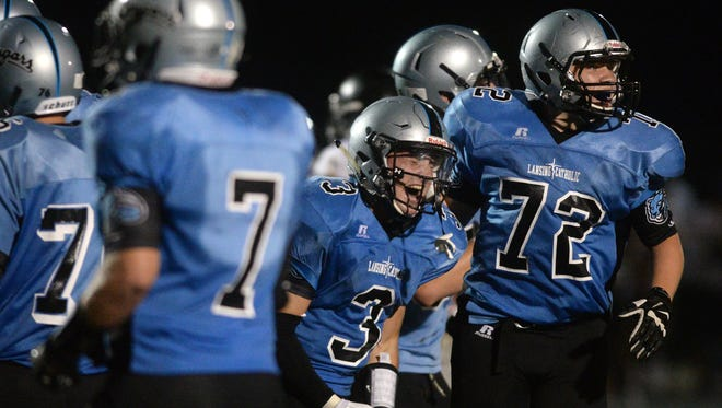 Alex Bres (3) and Lansing Catholic will face Grand Rapids West Catholic in the playoffs for a fourth straight season.