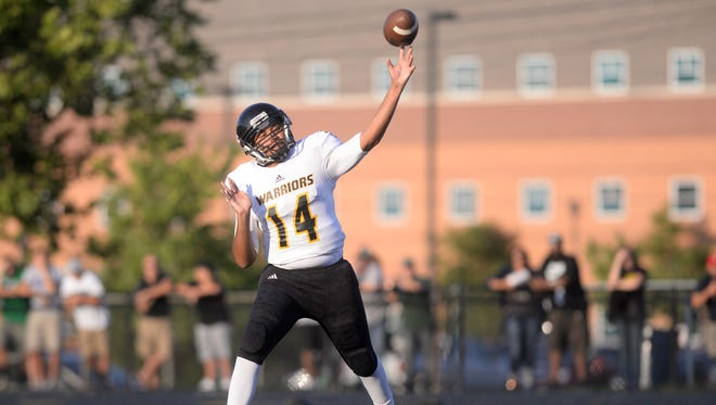 Lucas Leak threw for 349 yards in his first varsity start at quarterback last week for Waverly. He is trying to help the Warriors reach the playoffs for the first time since 2012 this fall.