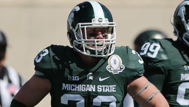 Michigan State linebacker Jon Reschke.
