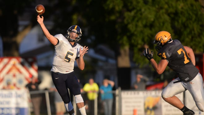 DeWitt's Will Nagel is one of the leading passers in the Lansing area.