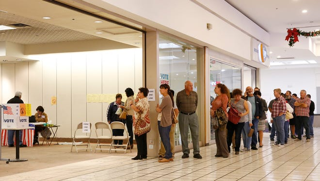 The last day of early voting drew a steady line at Bassett Place in Central El Paso.