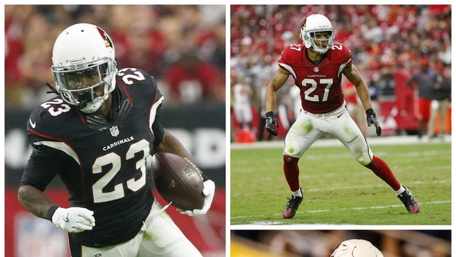 The Cardinals can activate (clockwise from left) Chris Johnson, Tyvon Branch or Alani Fua for Arizona's game against Washington on Dec. 4.