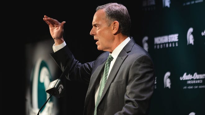 Michigan State coach Mark Dantonio.