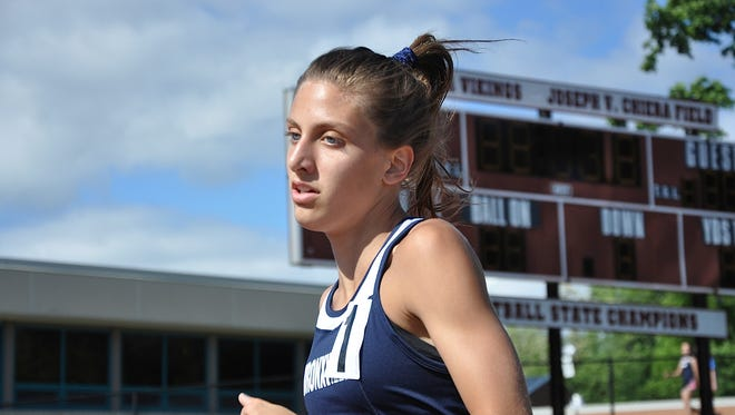 Bronxville's Kaitlin Ryan Section 1 Class C track and field championships at Valhalla High School on May 26, 2017.